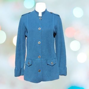 Cardigan Sweater Button Up Textured Long Sleeve 2